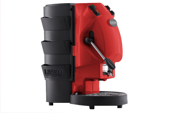 Lugano Espresso Makinesi kırmızı