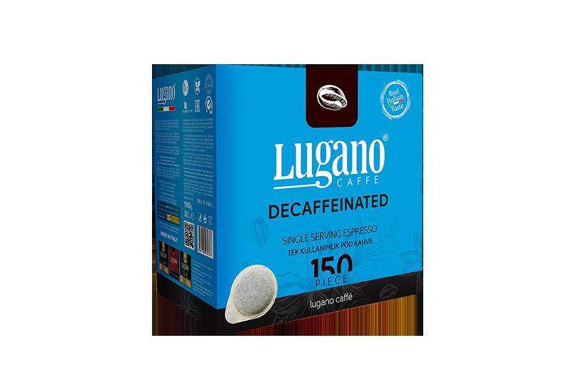 Lugano Caffé Kafeinsiz Espresso Pod 150'li Koli
