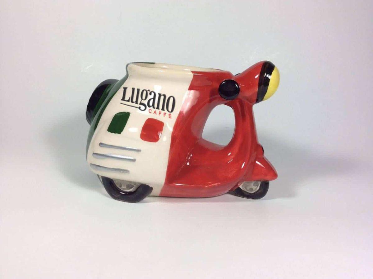 Lugano İtalya Skuter Biçimli Kahve Kupa