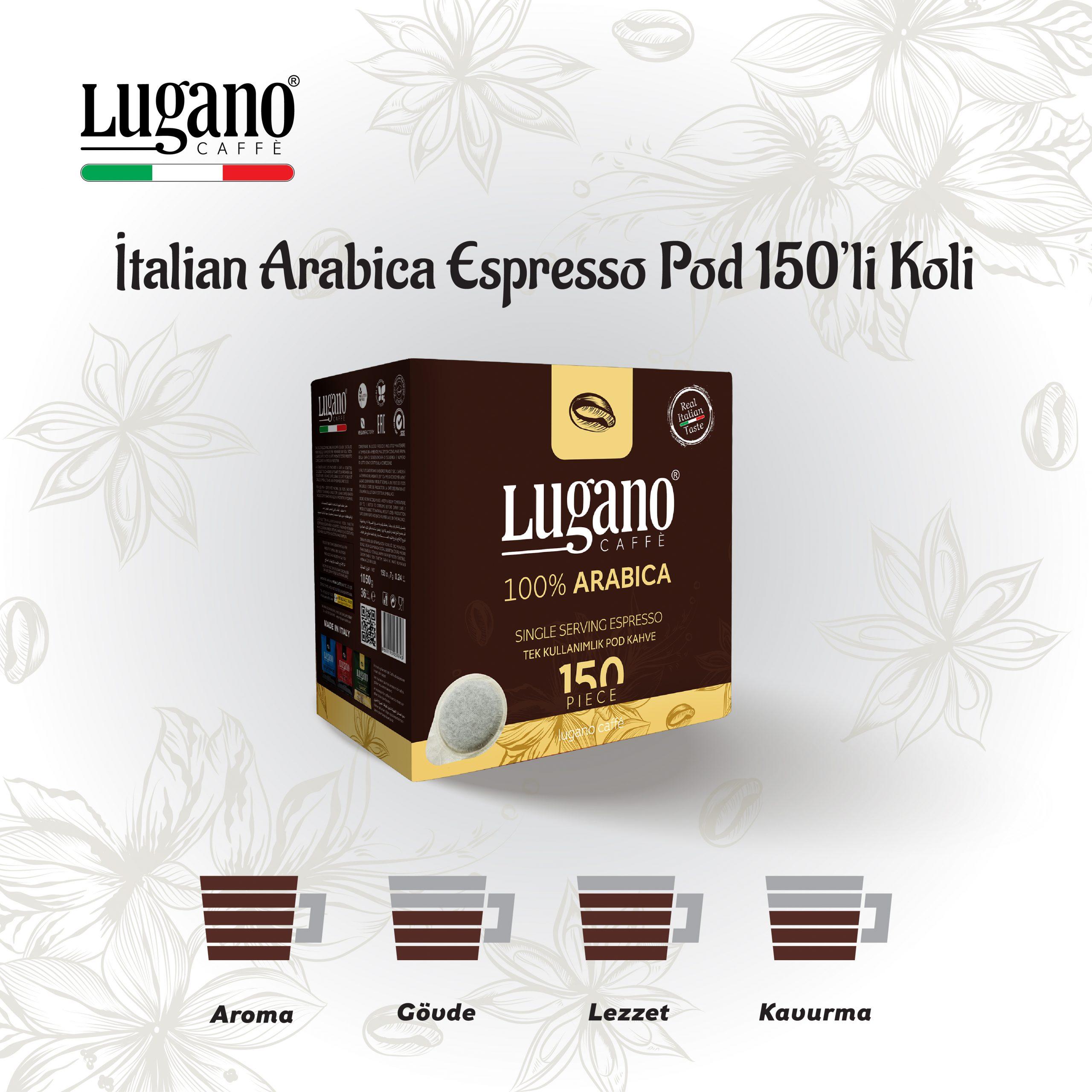 Lugano Arabica Espresso Pod 150'li Koli